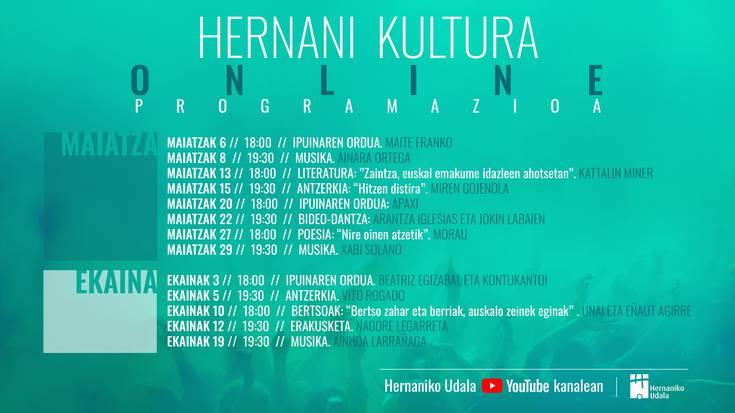 Hernani Kultura programazioa, online
