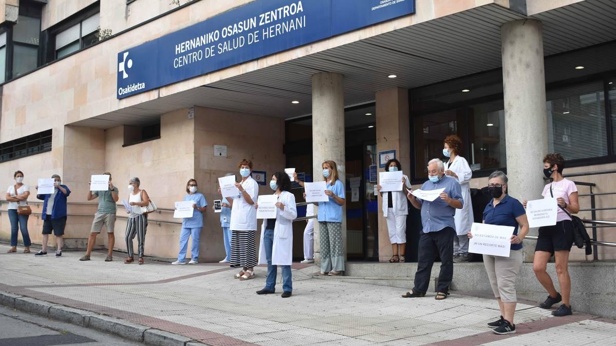 «Kalitatezko osasun publikoaren alde», protesta atzo anbulatorioan