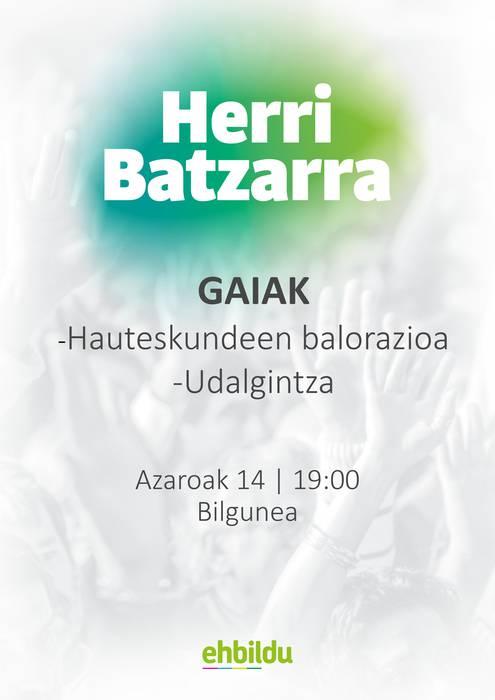 Batzarra, Zulueta batzarkidearekin