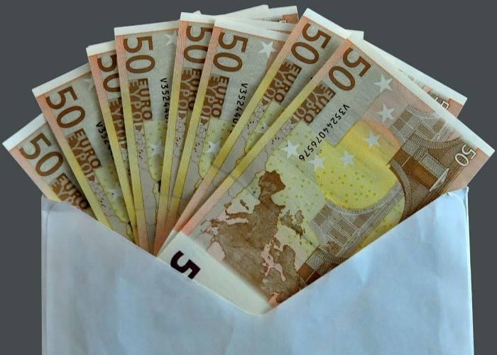 700 euroko sobrea, galduta